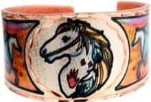 Painted Pony Copper Rings