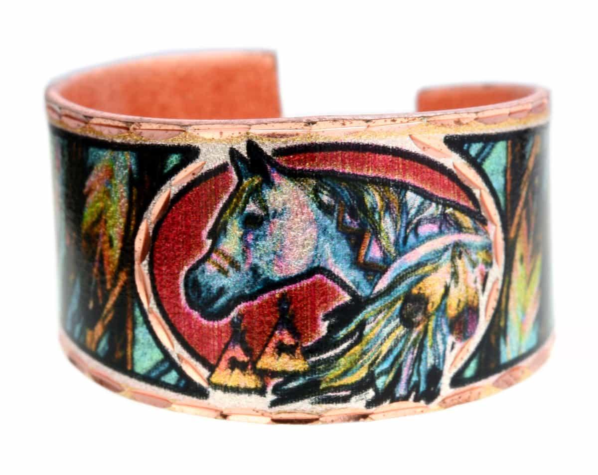 Spirit Horse Copper Rings