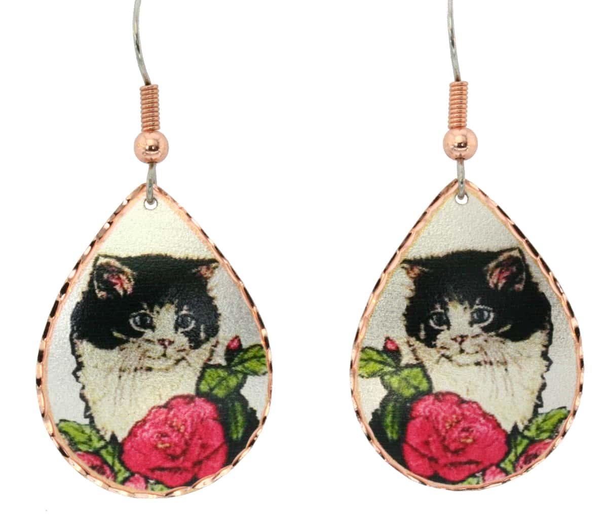 Kitten Cat Earrings, Cat Jewelry Earrings