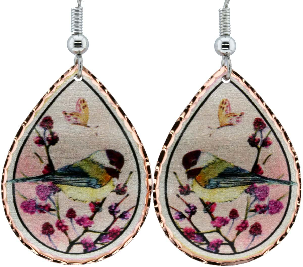 Chickadee Bird Earrings
