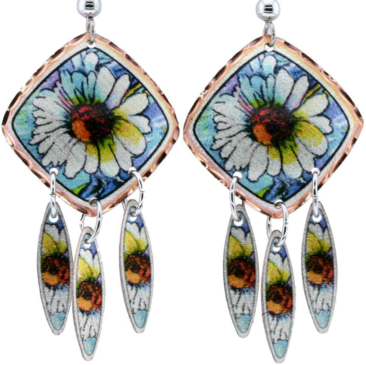 Daisy Flower Earrings Designed by Jo Lynch