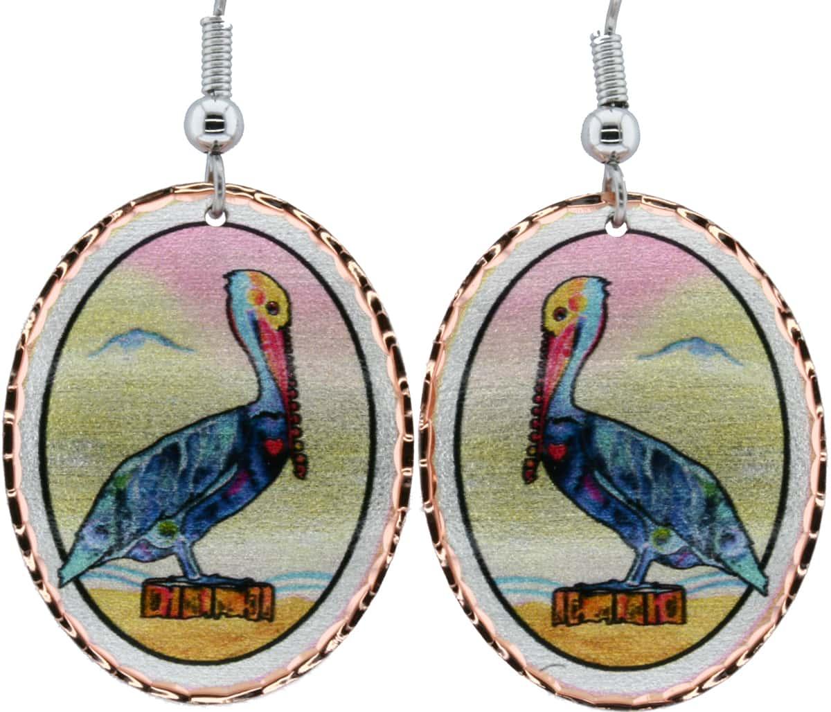 Jo Lynch Florida Pelican Earrings