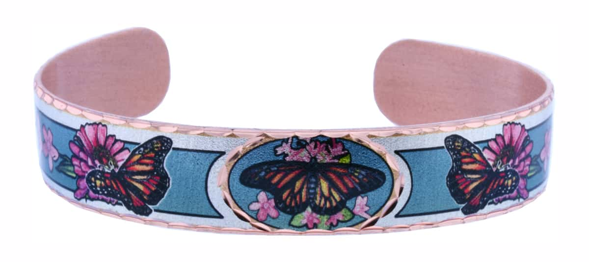 Monarch Butterfly Cuff Bracelet
