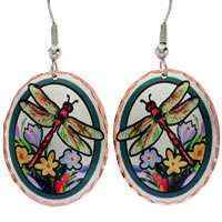Butterfly Earrings & Dragonfly Earrings Handcrafted in Colorful Design