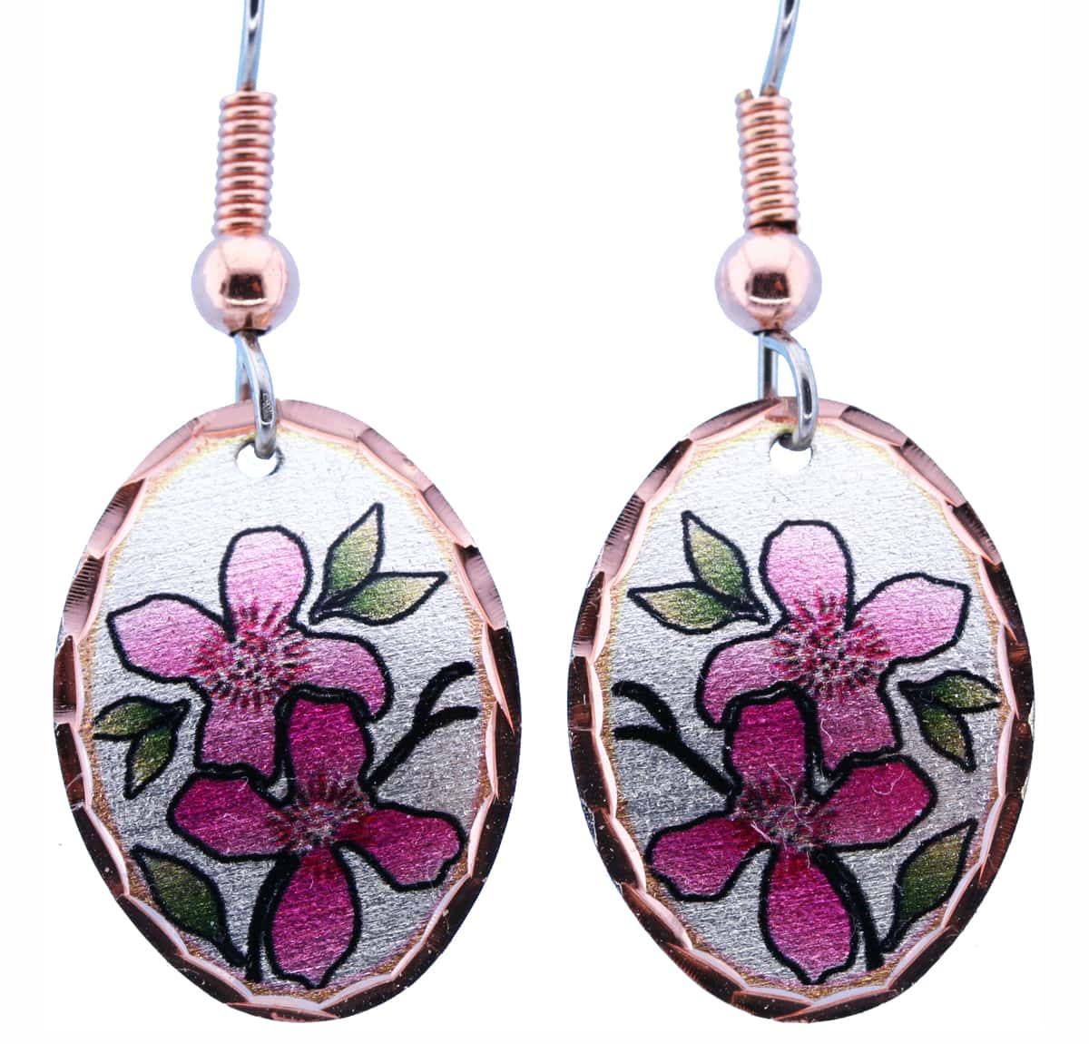 Colorful Cherry Blossom Earrings
