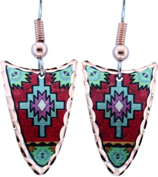Red & Turquoise Native Earrings