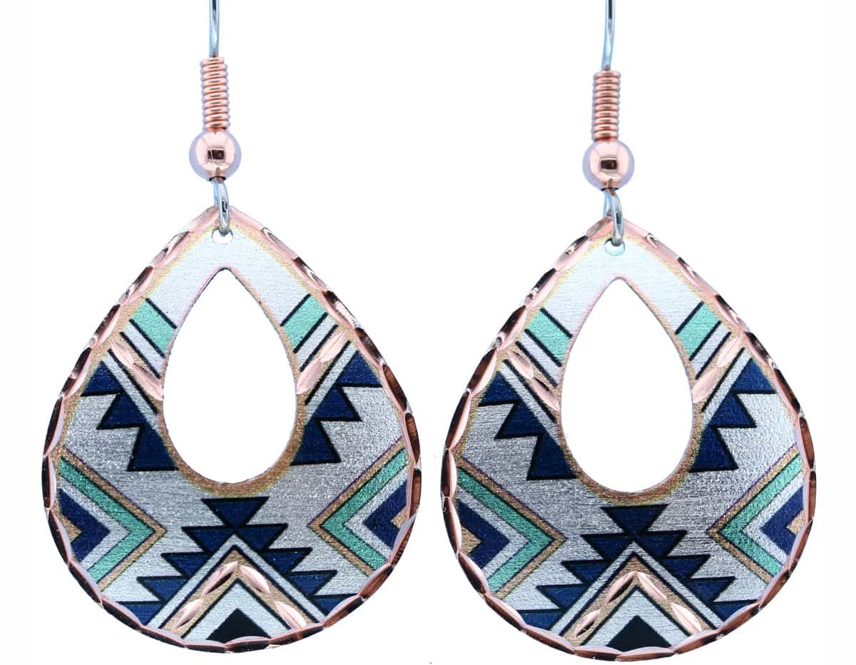 Teardrop SW Native Indian Earrings