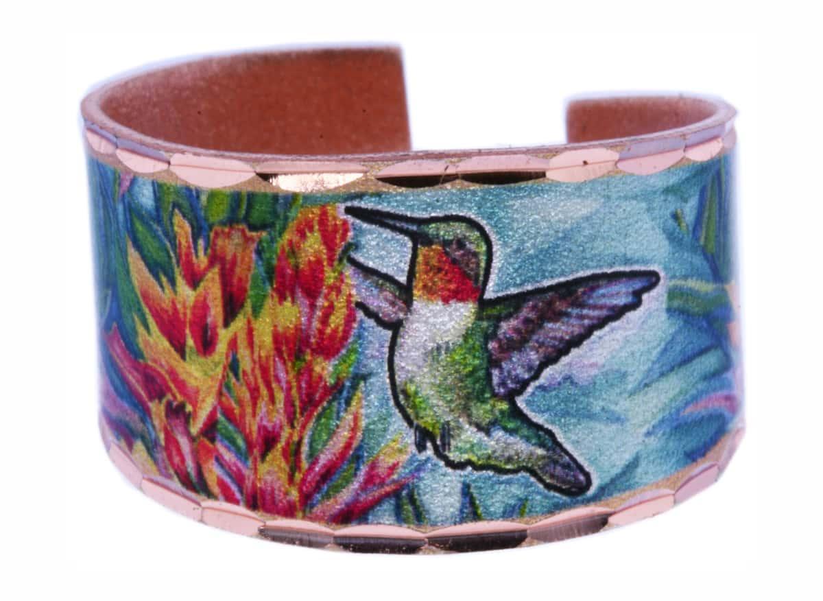 Hummingbird Ring Handmade from Copper