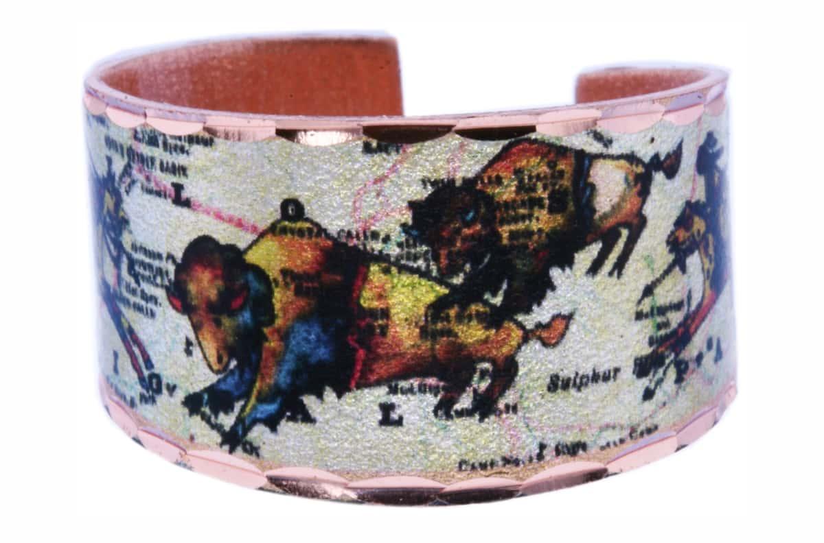 Colorful Art Jewelry Buffalo Rings