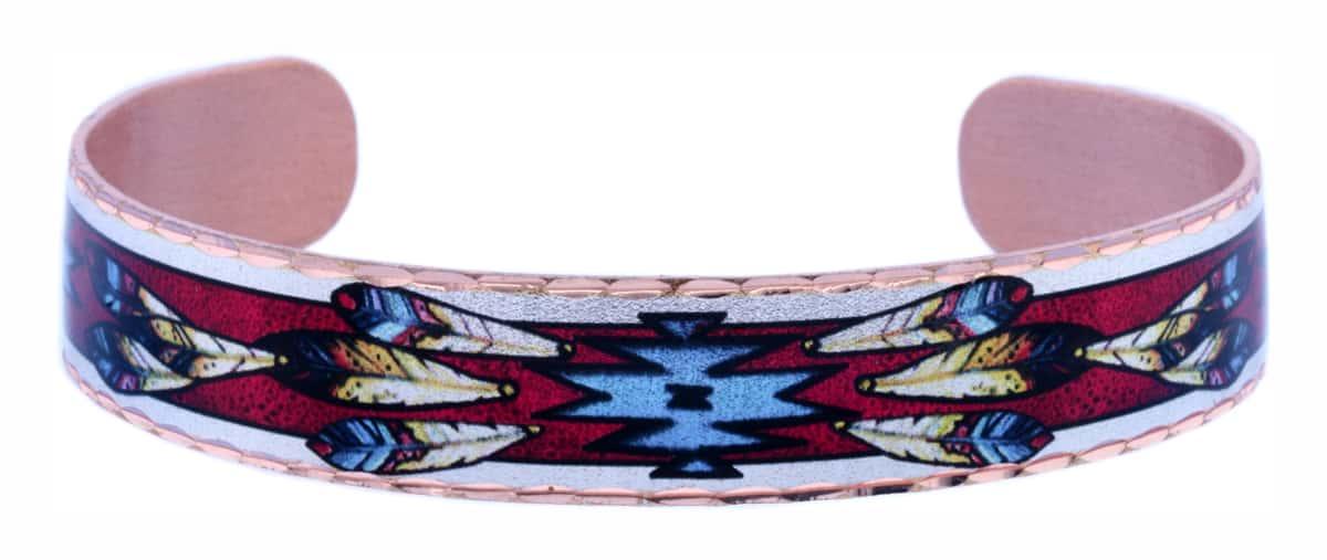 Colorful Native Copper Cuff Bracelets
