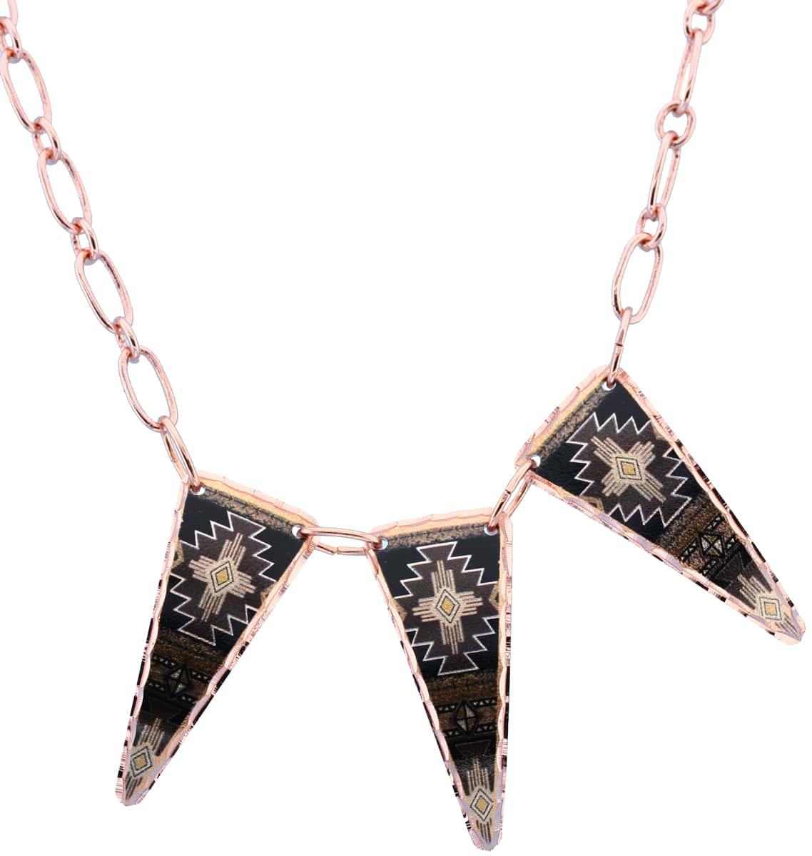 Copper Colorful Zia Native Necklaces