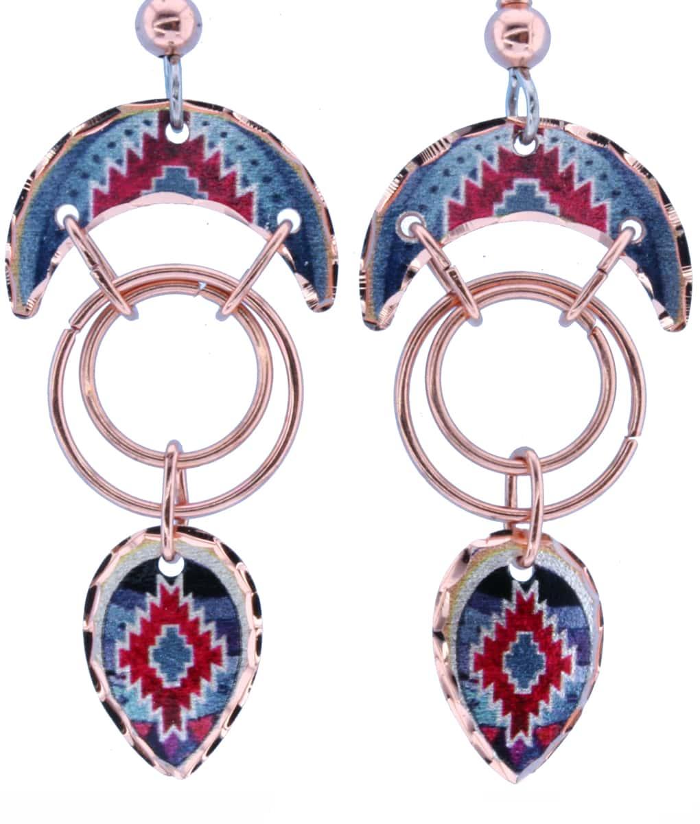 Wire SW Native American Copper Earrings