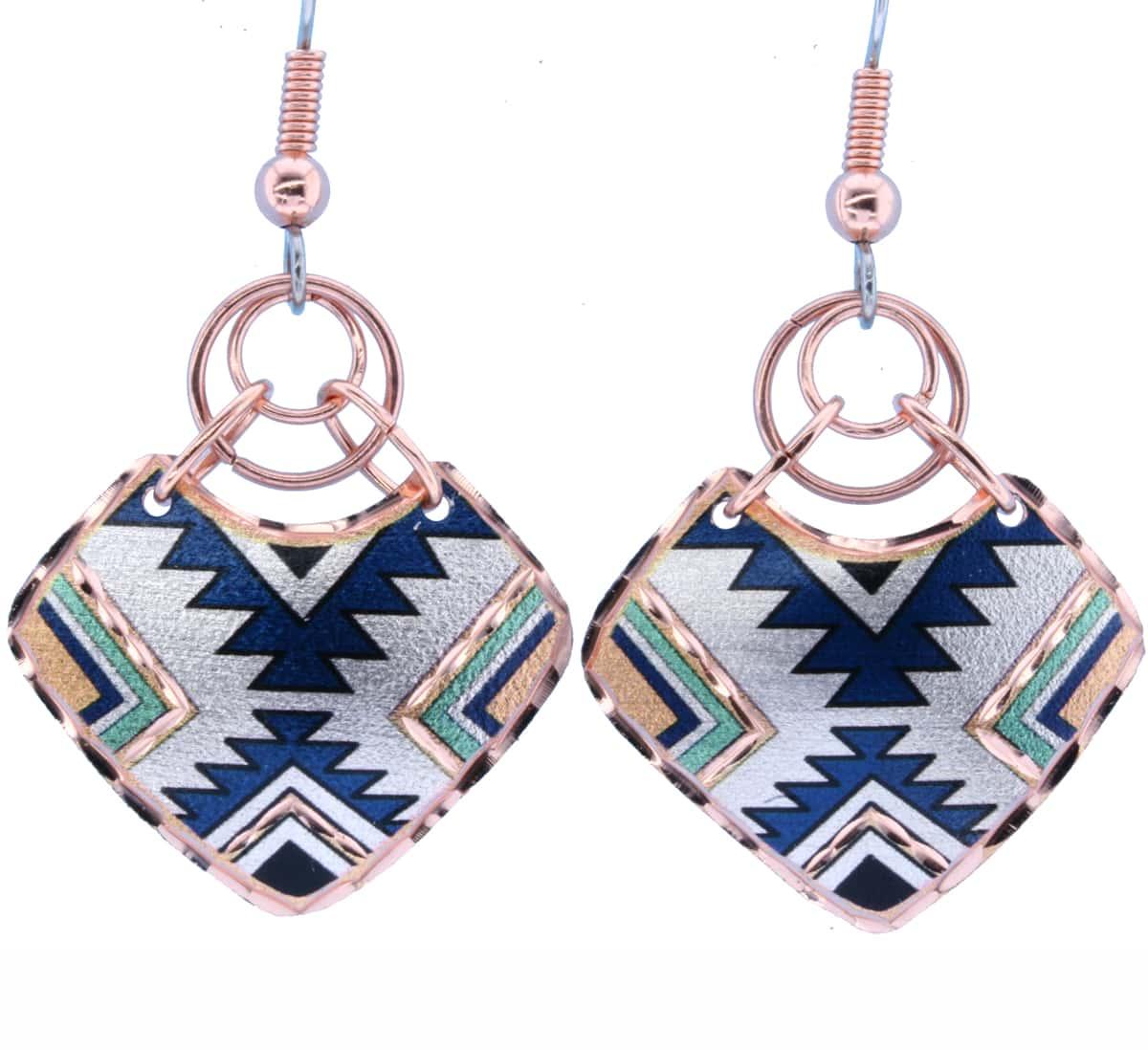Handmade Native Copper Wire Art Earrings