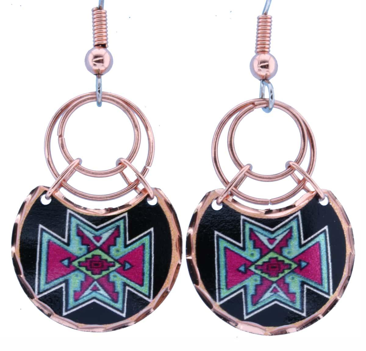 Handmade Copper Wire Native Earrings LJ-44