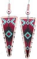 Red & Turquoise SW Native Earrings