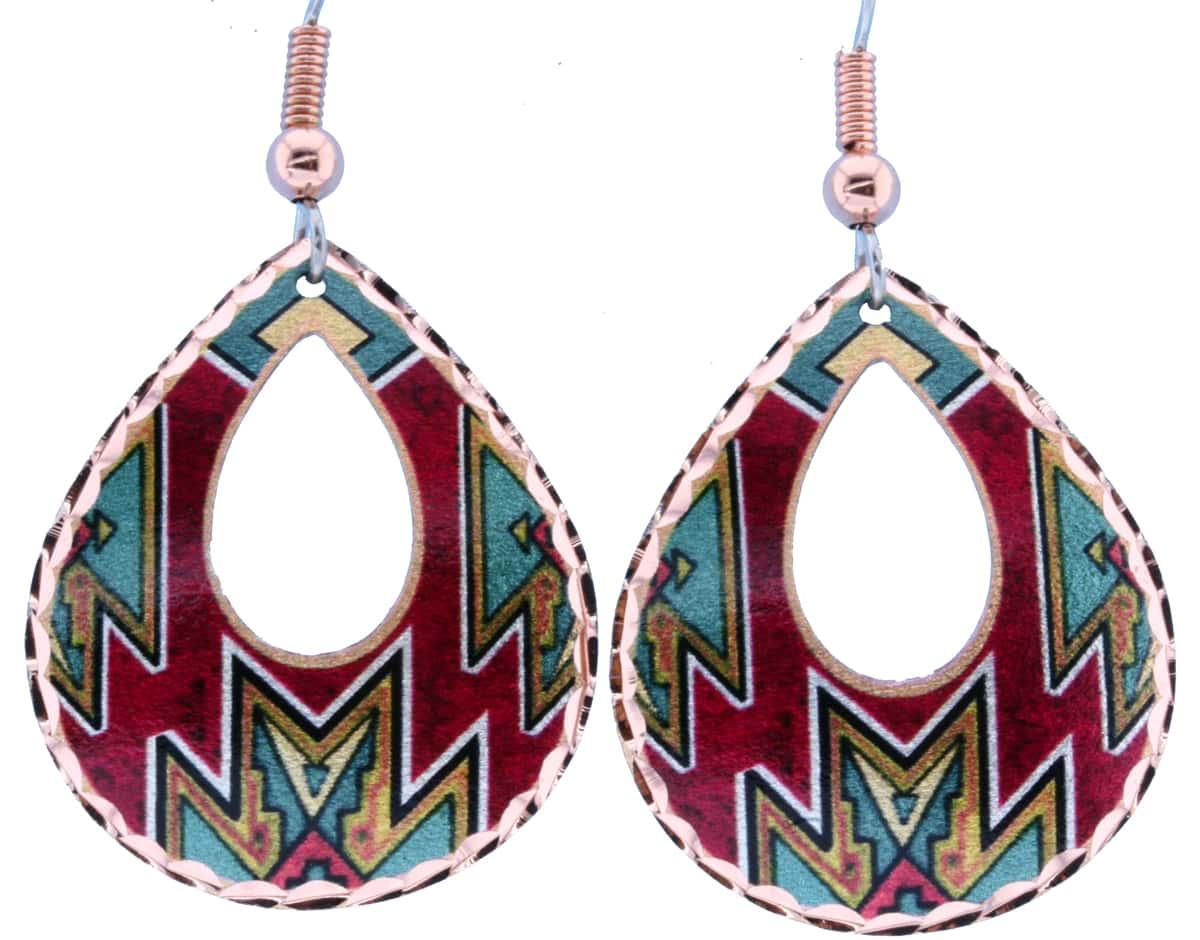 Colorful Native Teardrop Earrings