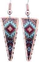 Triangle Colorful SW Native Earrings
