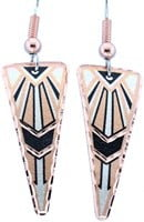 Triangle Copper Abstract Earrings