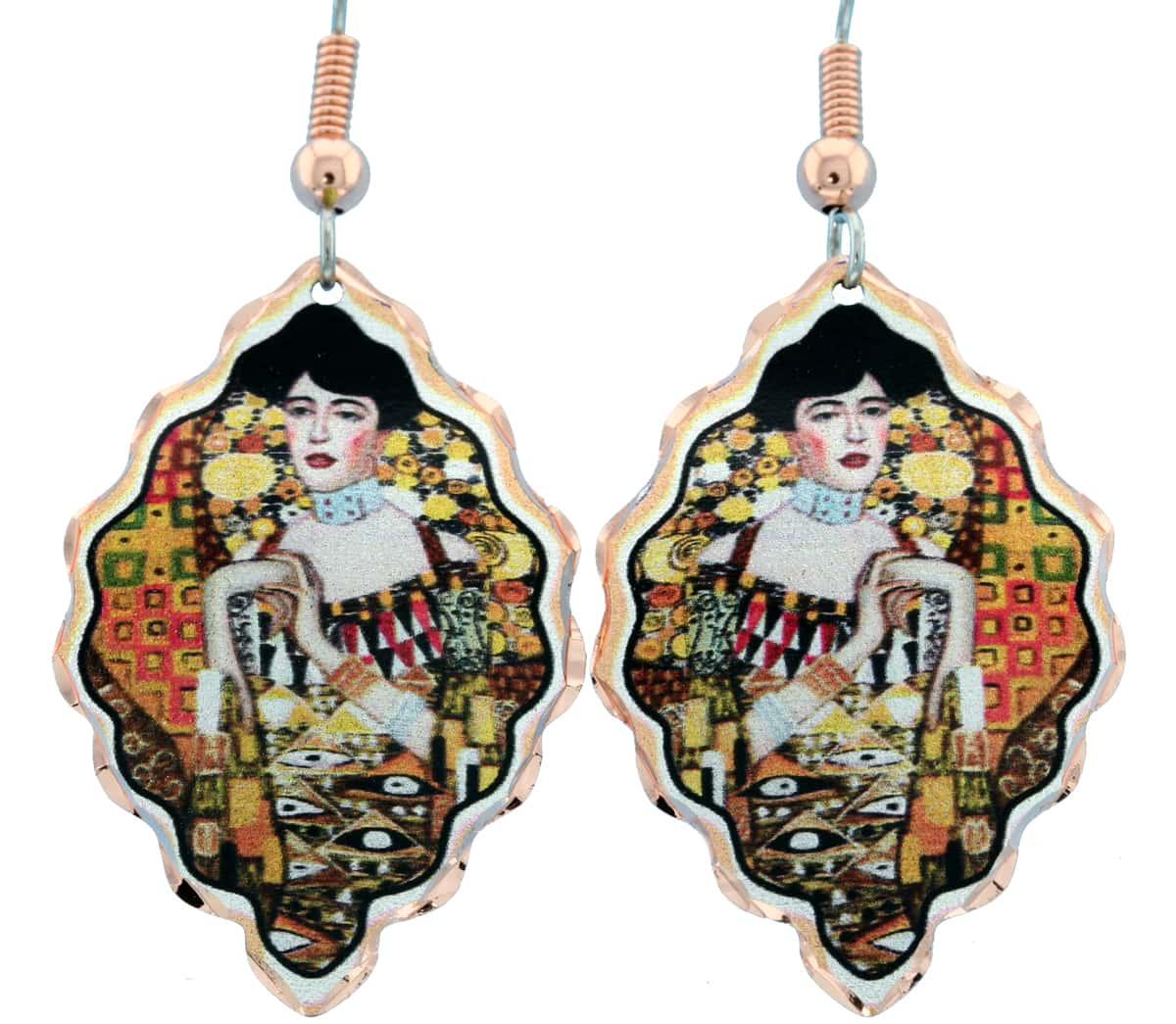 Gustav Klimt Lady Portrait Earrings