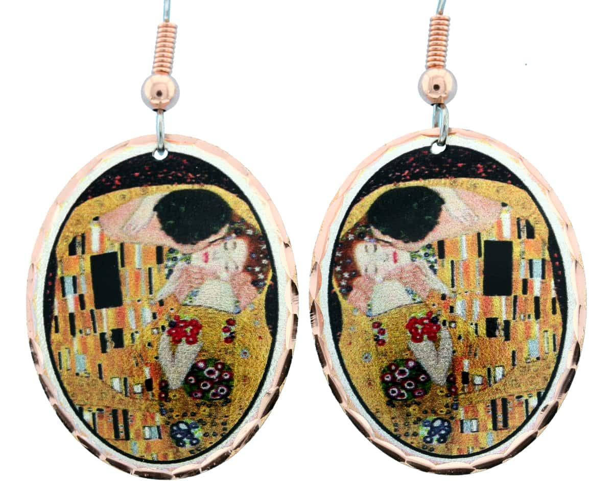 Gustav Klimt The Kiss Earrings GK-03