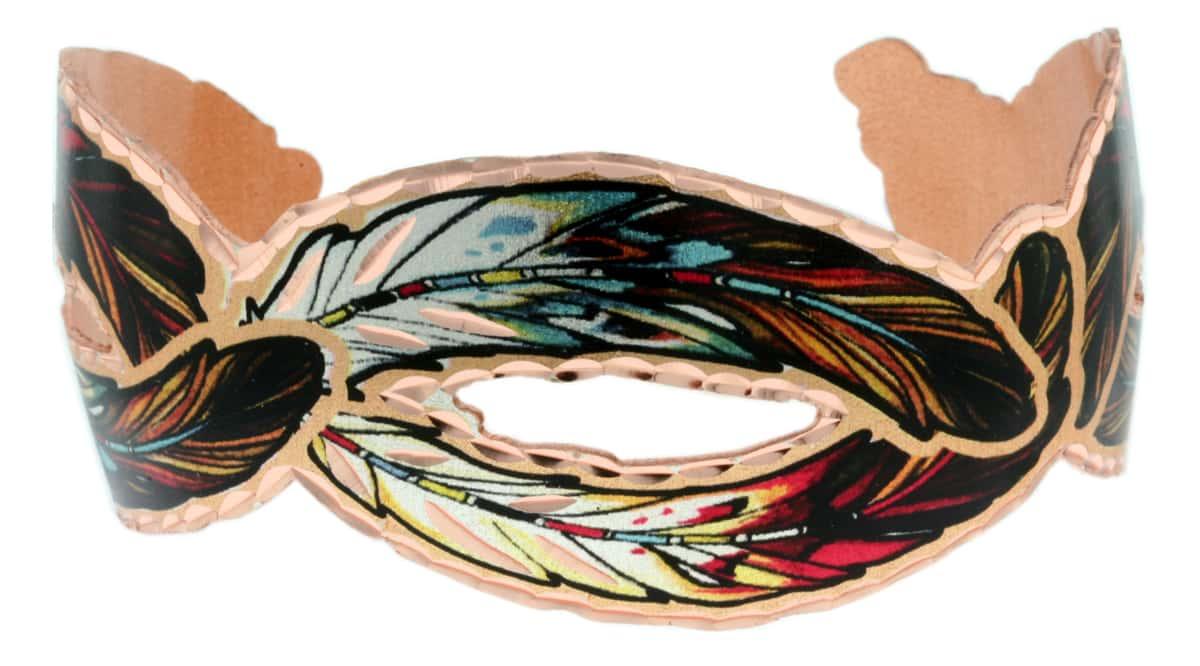 Cut Out Copper Feather Bracelets