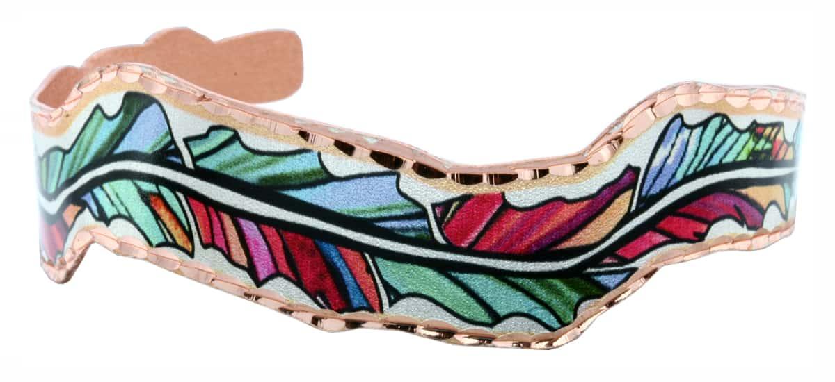 Wholesale Copper Feather Bracelets