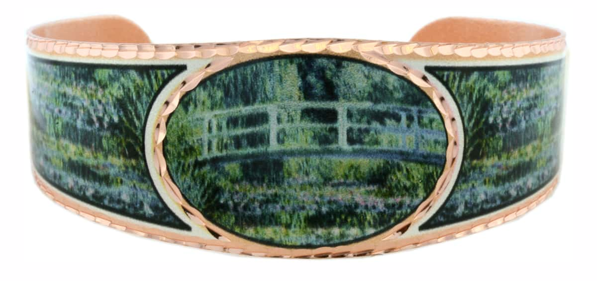 Monet Water Lilies and Japanese Bridge Bracelets BMO-08