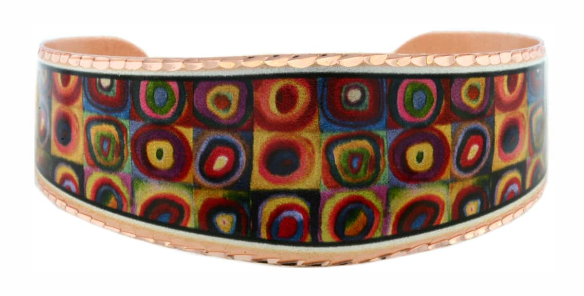 Wassily Kandinsky Squares with Concentric Circles Bracelets BWK-01