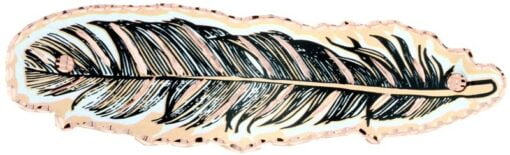 Copper Feather Hair Clip