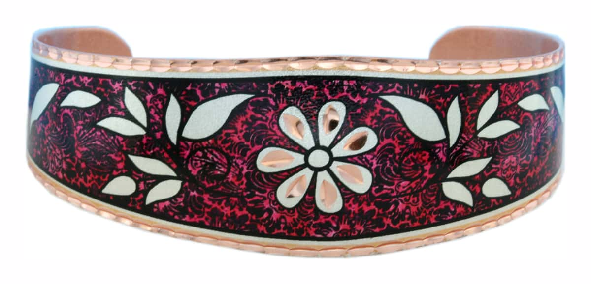 Red Background Flower Bracelets BF-08
