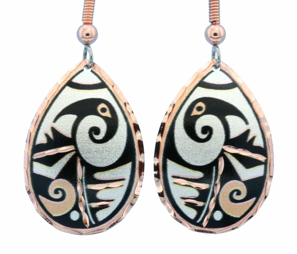Teardrop Native American Earrings 724