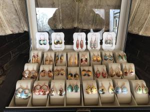 Jewelry display for earrings and bracelets