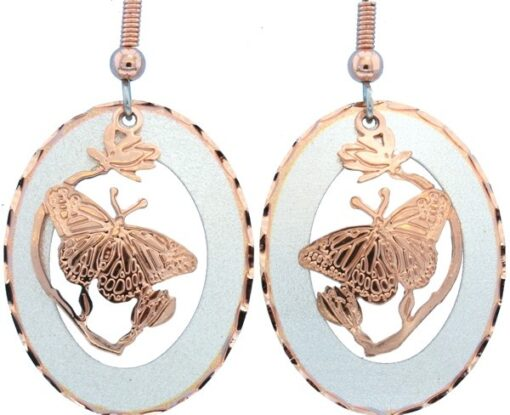 Butterfly Earrings Made from Etched Copper EC-68