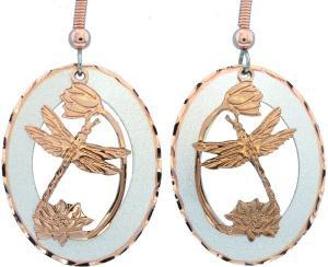 Buy Dragonfly Earrings Etched from Copper