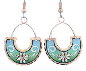 Buy Wire Jewelry Copper Flower Earrings