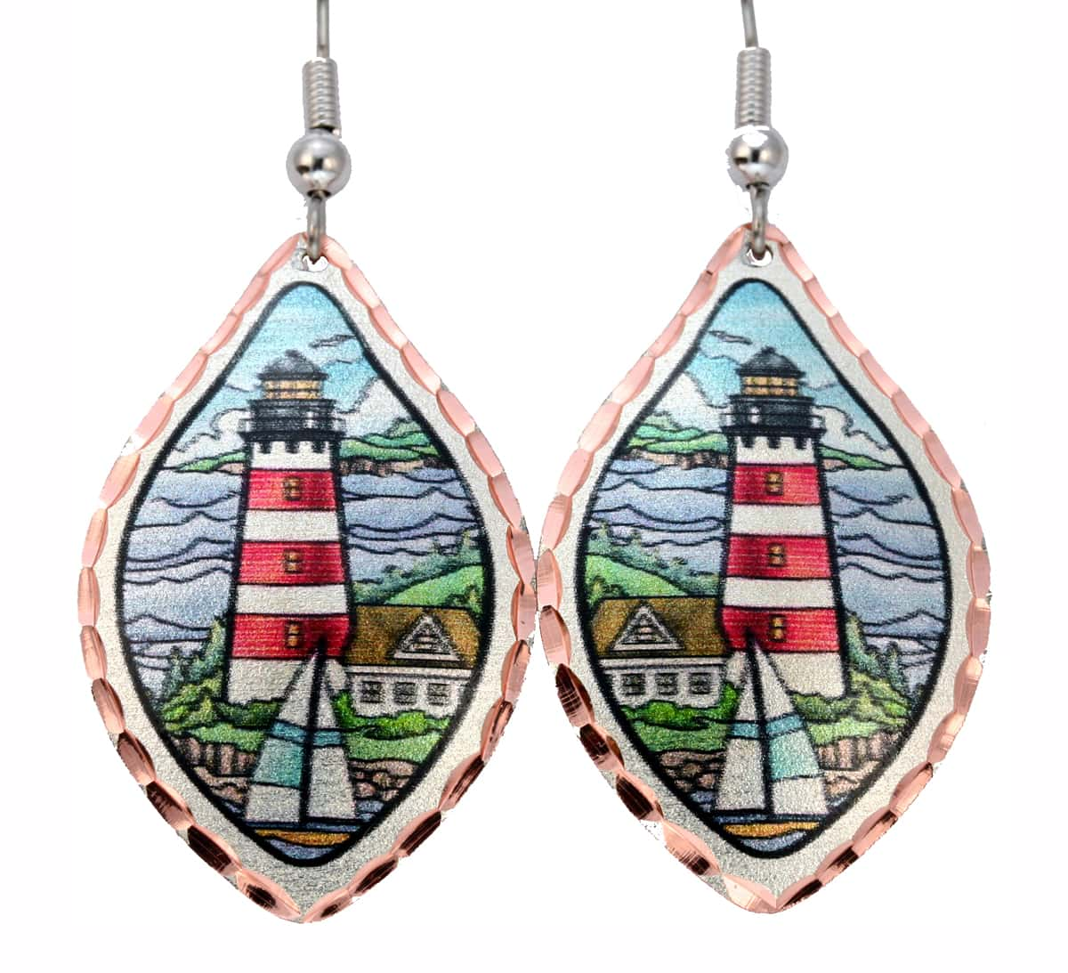Lighthouse and Sailboat Earrings, Wholesale Nautical Jewelry