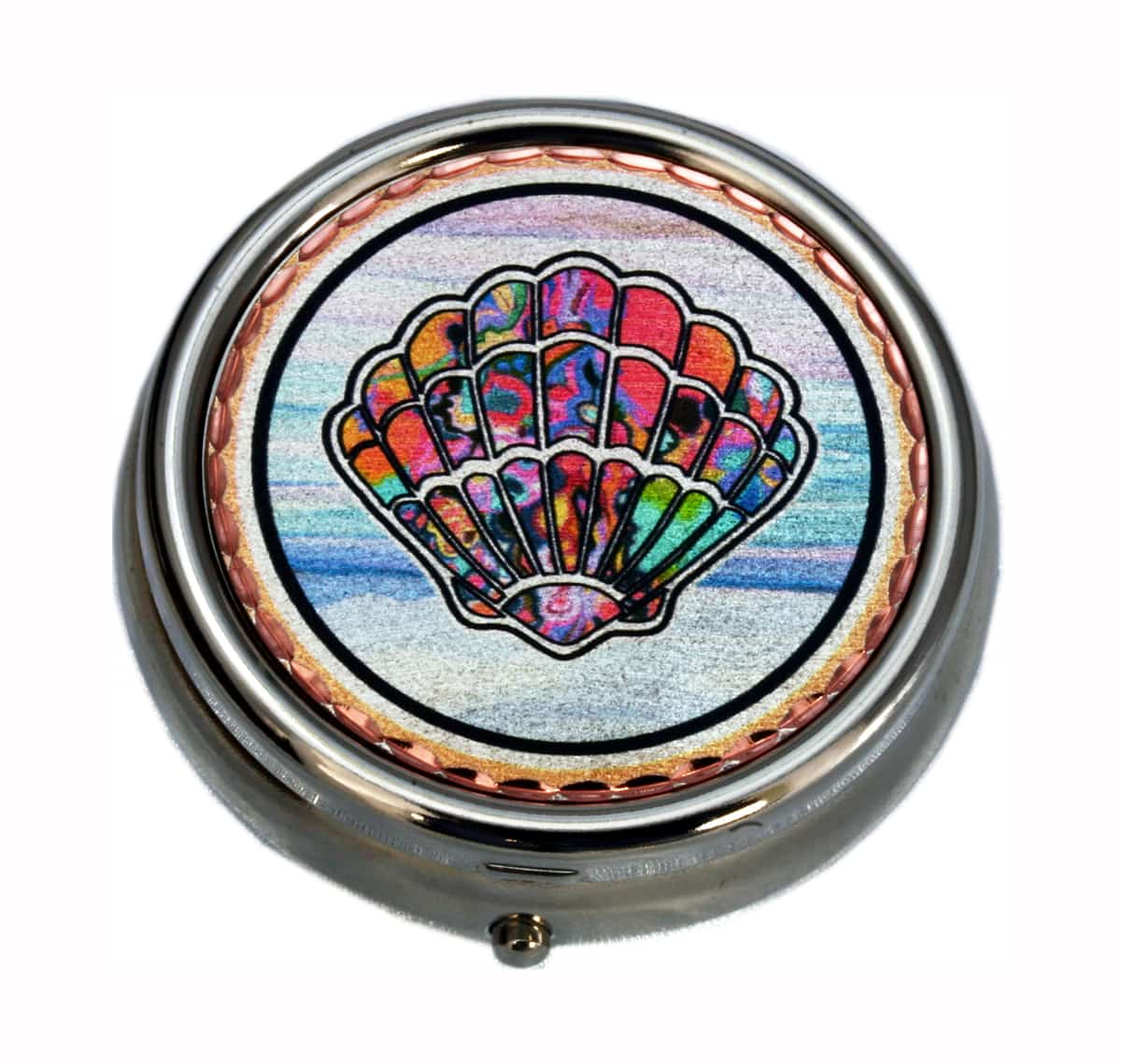 Nautical Gifts, Pill Boxes in Colorful Seashell Design