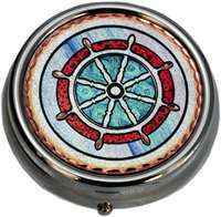 Wholesale Nautical Gifts, Ship Wheel Pill Boxes