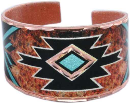 Burgundy turquoise Native American rings RC-715