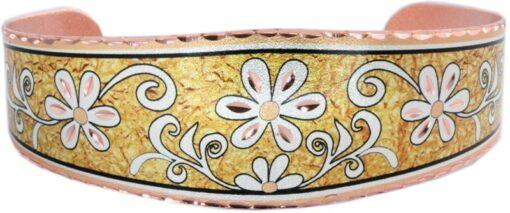 Golden Color Background Copper Flower Bracelet BF-04