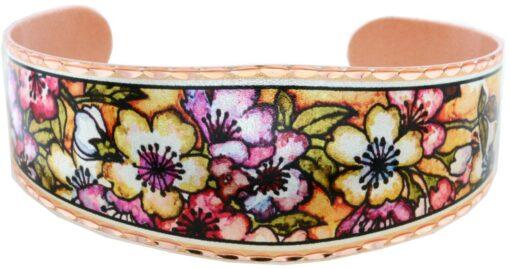 Lovely alcohol ink art flower bracelets BN-92