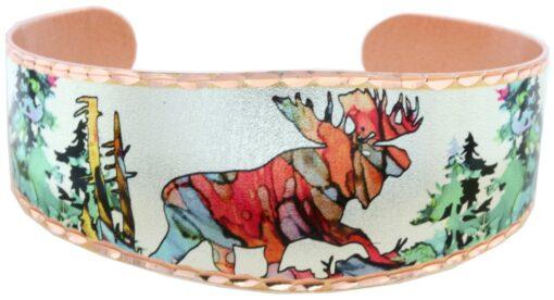 Alcohol ink art jewelry moose bracelets BN-95