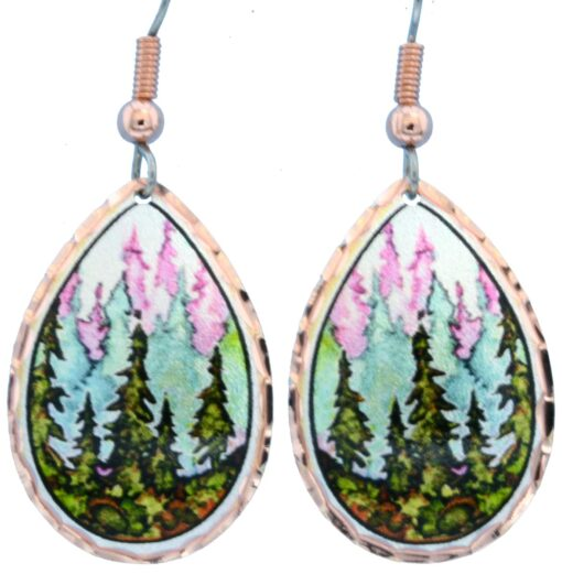 Alcohol ink jewelry trees earrings LD-360