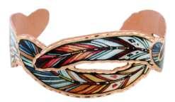 Cut out copper feather bracelets BCF-07