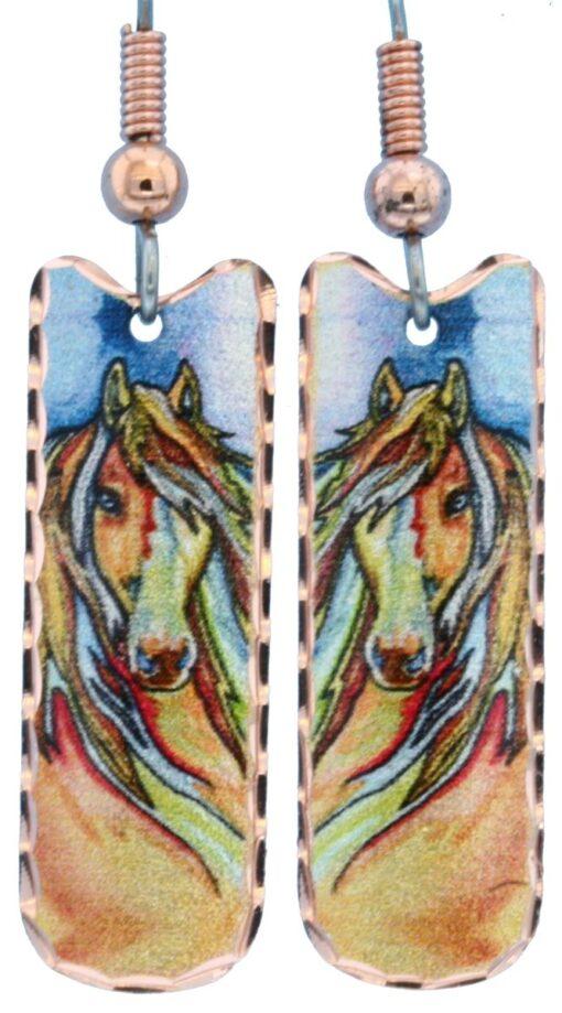 Dainty horse earrings LD-359