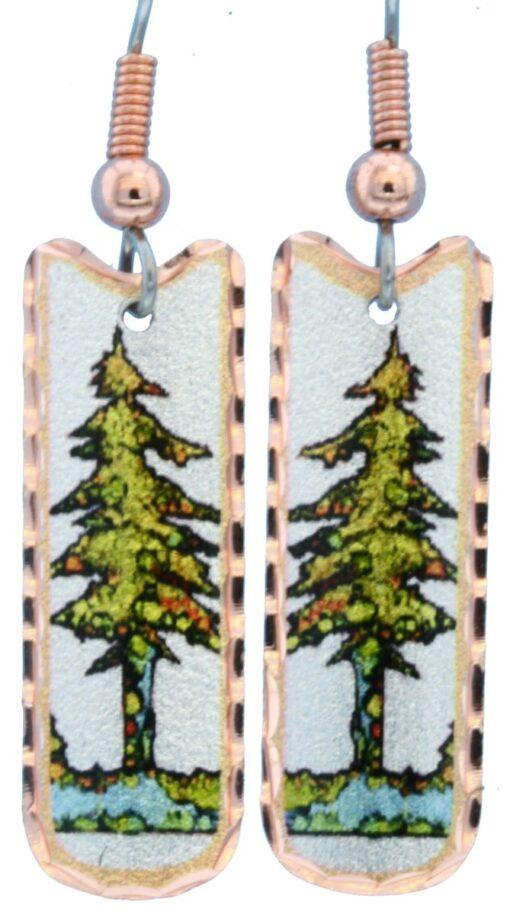 Dainty pine tree earrings LD-357