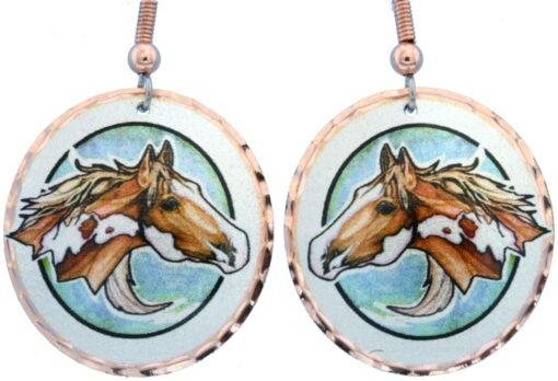 Western horse earrings LD-362